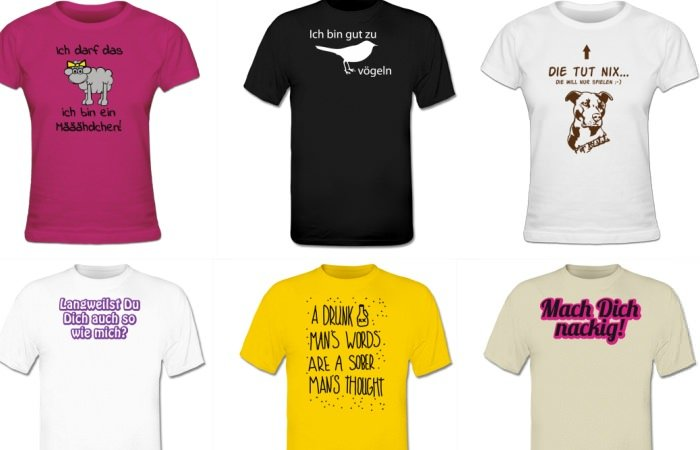Modesünden Peinliche T Shirt Sprüche