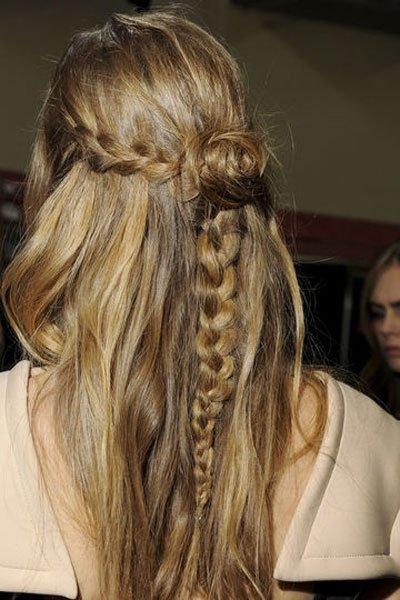 Frisuren trend herbst winter 2013 offen oder geflochten beides