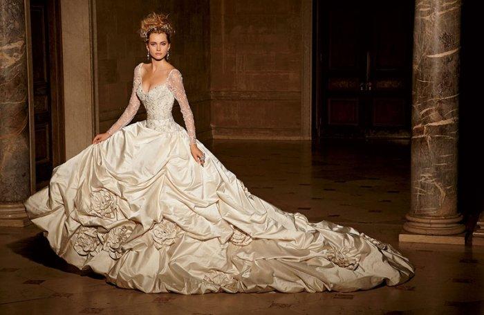 Aussergewöhnliche Brautkleider: Extravaganz im Duchesse-Stil