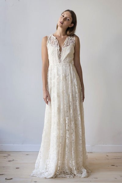 Vintage Hochzeitskleid: Sanft fallende Spitze