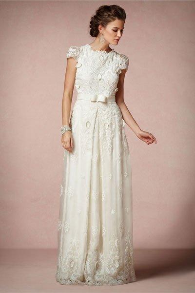 Vintage Hochzeitskleid Spitze Und Schleife