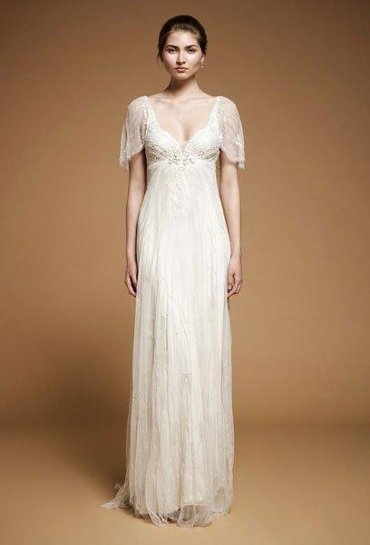 Brautkleider im Empire Stil: Kurze Ärmel
