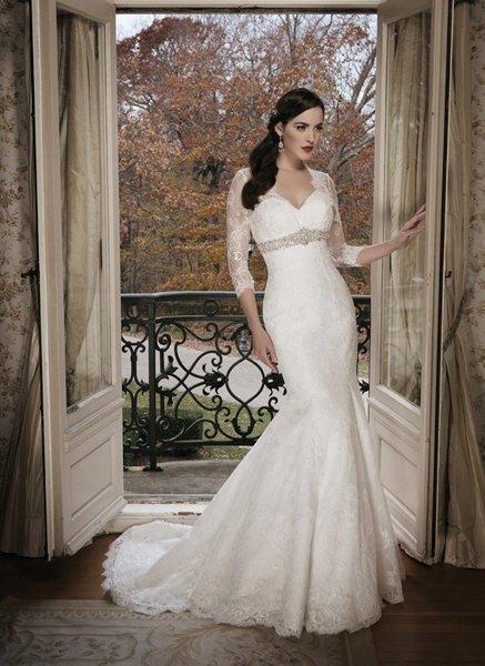 Hochzeitskleider aus Spitze: Ärmel als Hingucker