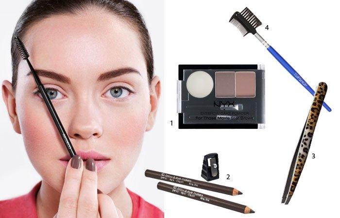 Augen grösser schminken: Augenbrauen in Form