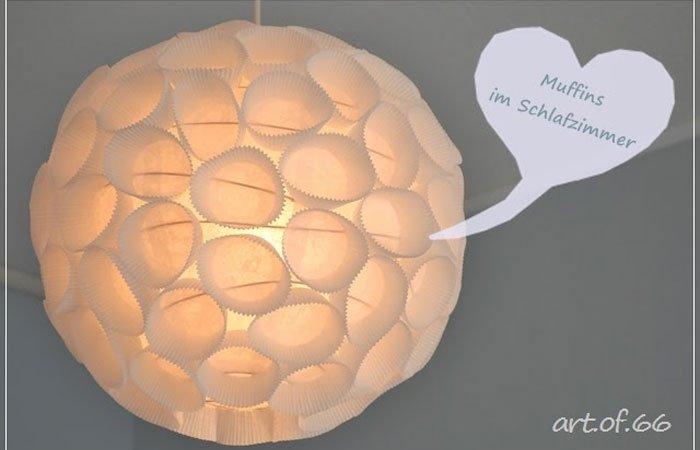 dekoideen f r schlafzimmer lampe aus muffinf rmchen. Black Bedroom Furniture Sets. Home Design Ideas