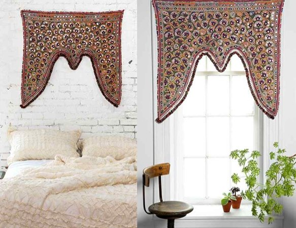 schmuck f r gardinenstange fenster kronen. Black Bedroom Furniture Sets. Home Design Ideas