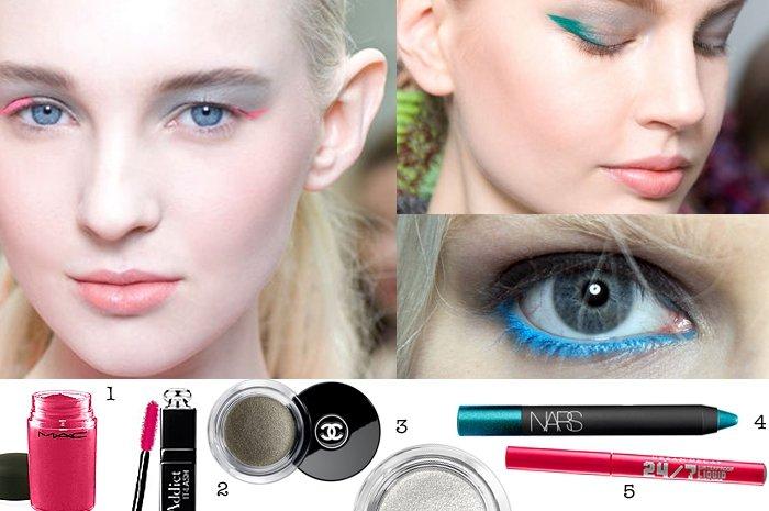 eyeliner trends 2014 15 bunter 90er lidstrich als blickfang. Black Bedroom Furniture Sets. Home Design Ideas