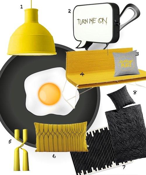 wohntrends 2015 das gelbe vom ei. Black Bedroom Furniture Sets. Home Design Ideas