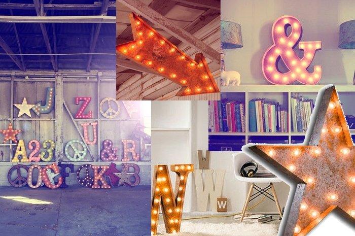 ich kaufe ein e vintage leuchtbuchstaben als homedecor. Black Bedroom Furniture Sets. Home Design Ideas