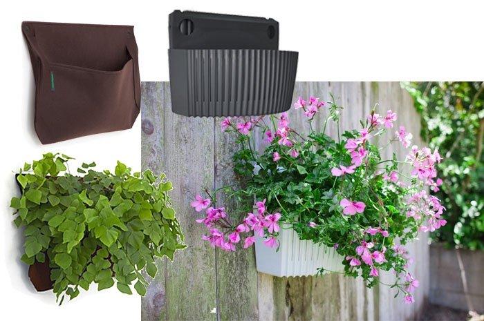 lebende wand im kleinformat mit pflanztaschen den balkon gestalten. Black Bedroom Furniture Sets. Home Design Ideas