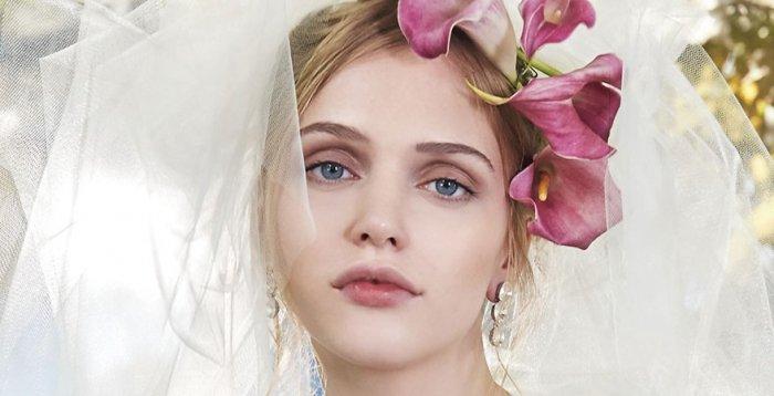 Zartes Braut Make Up Mit Lidschatten In Mauve Und Zartrosa Lippen