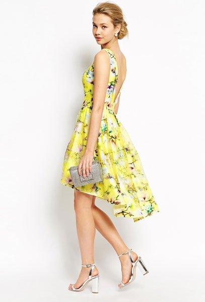 Kleid hochzeitsgast gelb