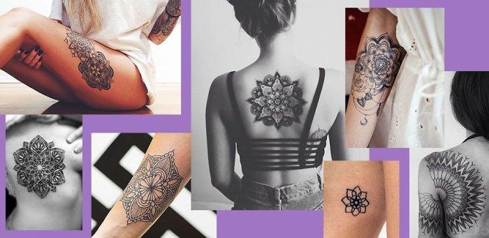 Frau tattoo mandala motive Ideen Tattoos