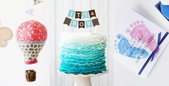 Baby shower party 15 ideen die mama entz cken werden for Baby shower ideen
