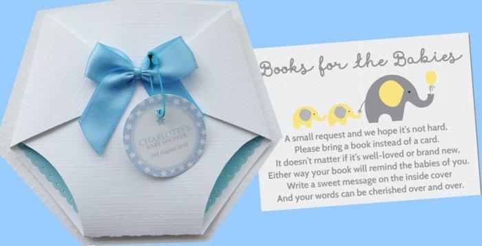 Süss verpackt: Baby Shower Party-Einladungen