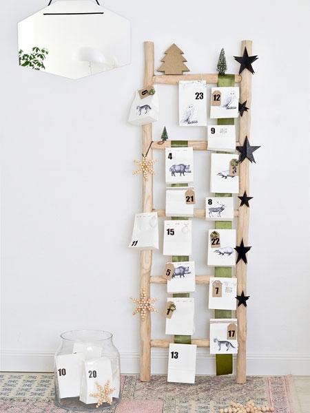 t rchen zum klettern leiter adventskalender basteln. Black Bedroom Furniture Sets. Home Design Ideas