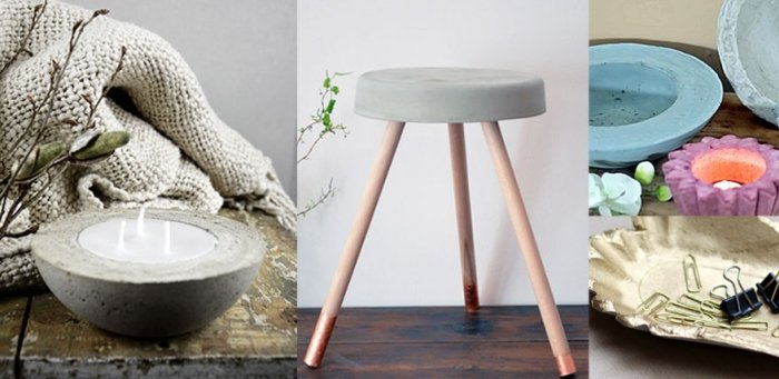 weihnachtsgeschenke basteln betondeko selber giessen. Black Bedroom Furniture Sets. Home Design Ideas
