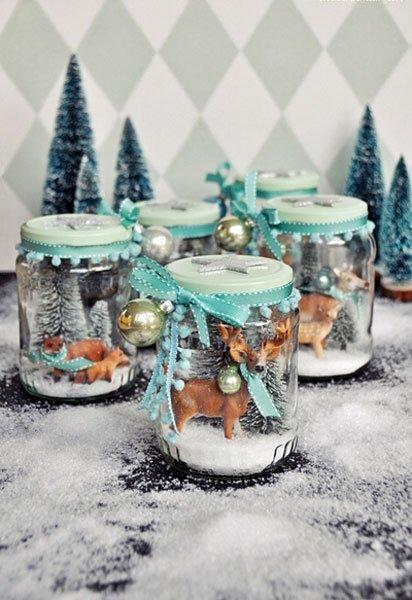 weihnachtsgeschenke basteln schneekugel selber machen. Black Bedroom Furniture Sets. Home Design Ideas
