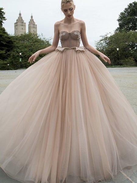 Hochzeitskleider 2016 Mille Feille Kleid In Rosébraun Von Inbral Dor