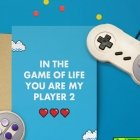 Valentinstag-Sprüche: In the game of my life you are my player 2