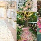 Hochzeitsidee durch die Blume: Blütenteppich