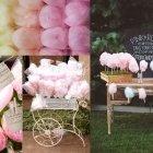 Zuckersüsse Hochzeitsidee: Candy-Buffet mit Zuckerwatte