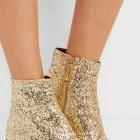 Goldene Ankle Boots mit Glitter-Finish von Marc Jacobs