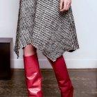 Stiefeltrend Rot/Bordeaux: spitze kaminrote Stiefel von Isabel Marant