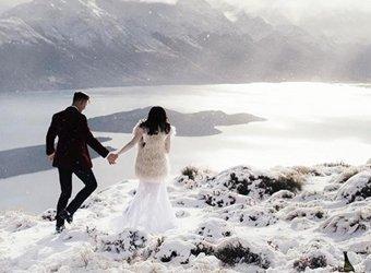 Wenn du diese magischen Bilder gesehen hast, möchtest du auch eine Winterhochzeit!