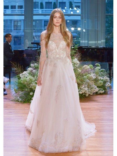 Hochzeitskleider 2017: Kleid mit Tüll, Spitze und transparenten ...