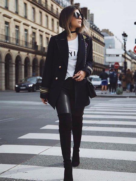 Leggings kombinieren wie blogger sie tragen - Leggings kombinieren ...