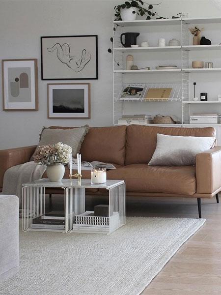 Skandinavische Einrichtung: Wohnzimmer im nordischen Look