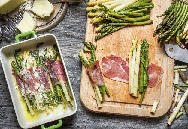 Alles auf Grün! Wir kochen grüne Spargeln