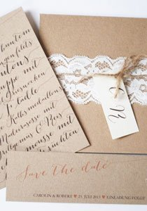 Hochzeitseinladungen: Kreative Ideen