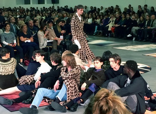 Julian Zigerli an der 11. Mode Suisse.