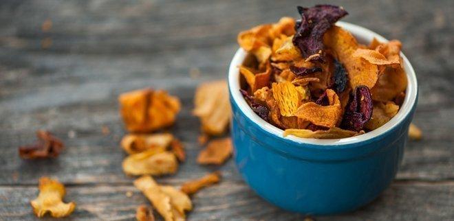 Kalorienarme Snacks: Gemüsechips