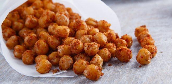 Kalorienarme Snacks: Geröstete Kichererbsen