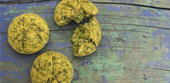 Kalorienarme Snacks: Spinat-Muffins