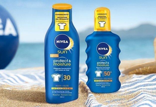 Eine innovative Sonnencreme schützt Haut und Kleidung