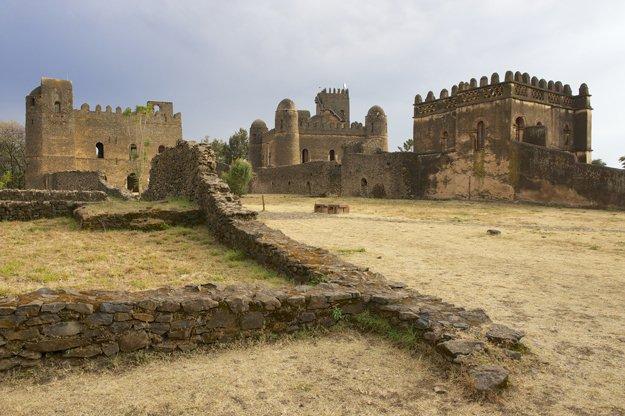 Die mittelalterliche Festung in Gondor, Äthiopien, gehört zum UNESCO Weltkulturerbe.