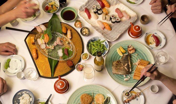 Gedeckter Tisch im Sala of Tokyo