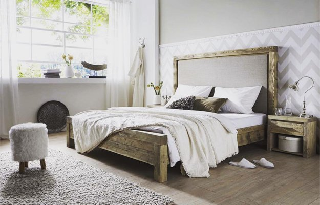 Schlafzimmer im modernen Chalet-Stil einrichten