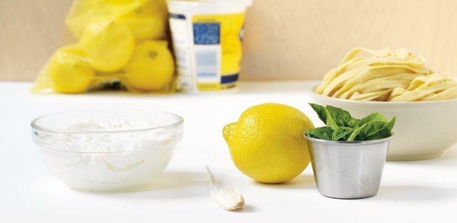 Linguine mit Zitrone und Ricotta