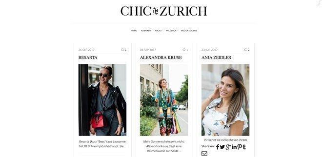 Modeblog: Chic in Zurich