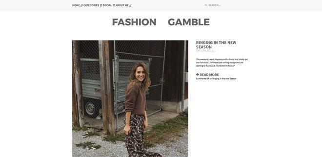 Schweizer Modeblog: Fashion Gamble
