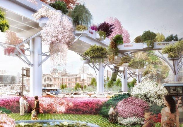 Endlich fertig. Der Skygarden von Seoul ist eines der ehrgeizigsten Städteprojekte dieser Tage.