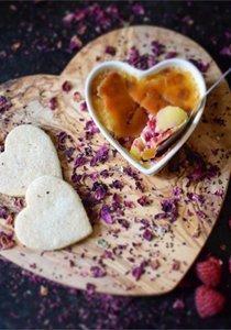 Valentinstag Menü Nr. 1: Kürbissuppe, Langustenschwänze, Blätterteig-Törtchen