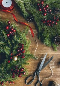 Weihnachtsdeko girlande basteln