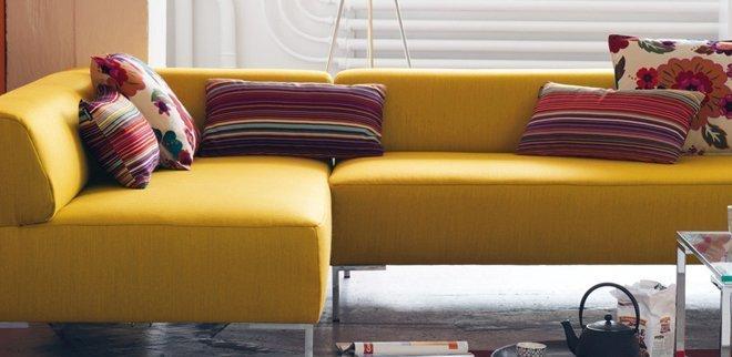 Wohntrends 2018: Gelbes Sofa